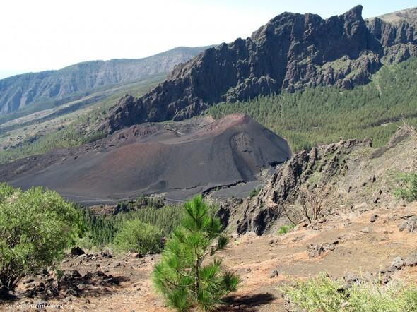 caldera de pedro gil - volcán montaña de las arenas - tenerife