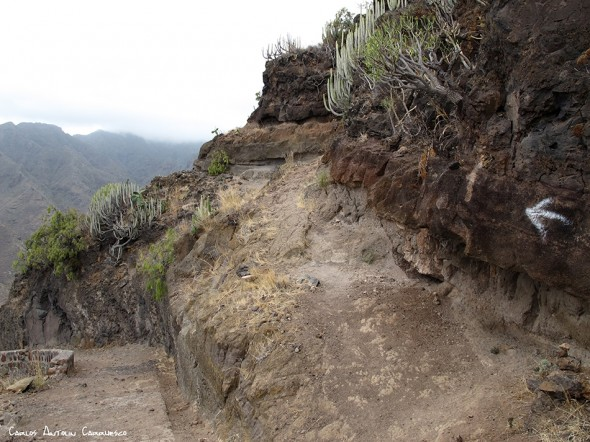 sendero a la Playa de Antequera - Anaga - Tenerife<br/>Igueste de San Andrés