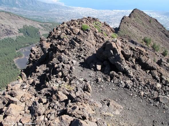 filo de Cho Marcial - Pico del Valle - P.N. del Teide<br/>Caldera de Pedro Gil - Tenerife