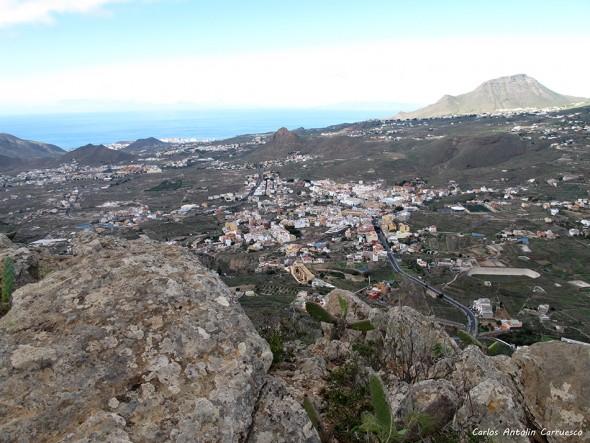 Valle San Lorenzo - Monumento Natural de Jama - Tenerife - roque del conde