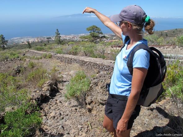 Isla de La Gomera desde el Camino de La Campana