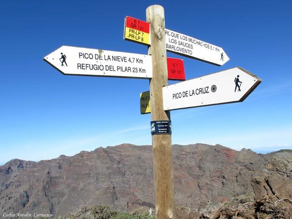 Pico de La Cruz - Transvulcania - GR131 - La Palma