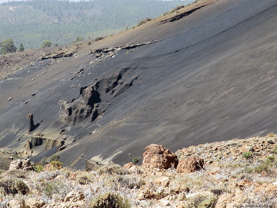 Paisaje Lunar negro - Tenerife