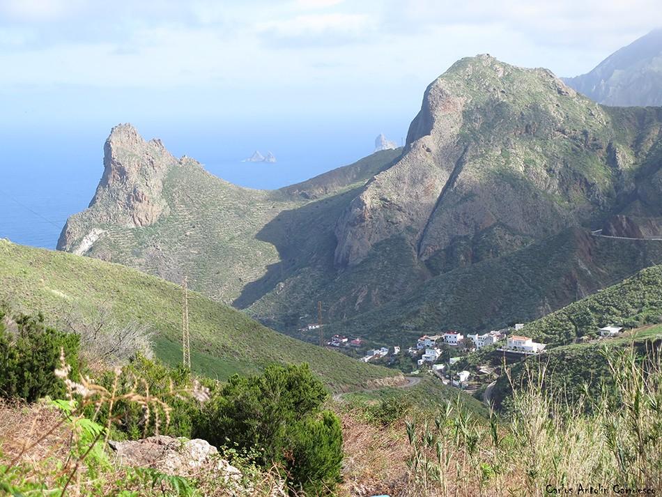 Sendero Las Vueltas - Taganana - Tenerife - las ánimas - enmedio - roques