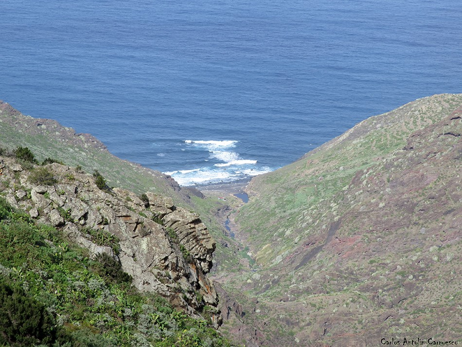Afur - Anaga - Tenerife - Barranco de Afur - Playa de Tamadiste