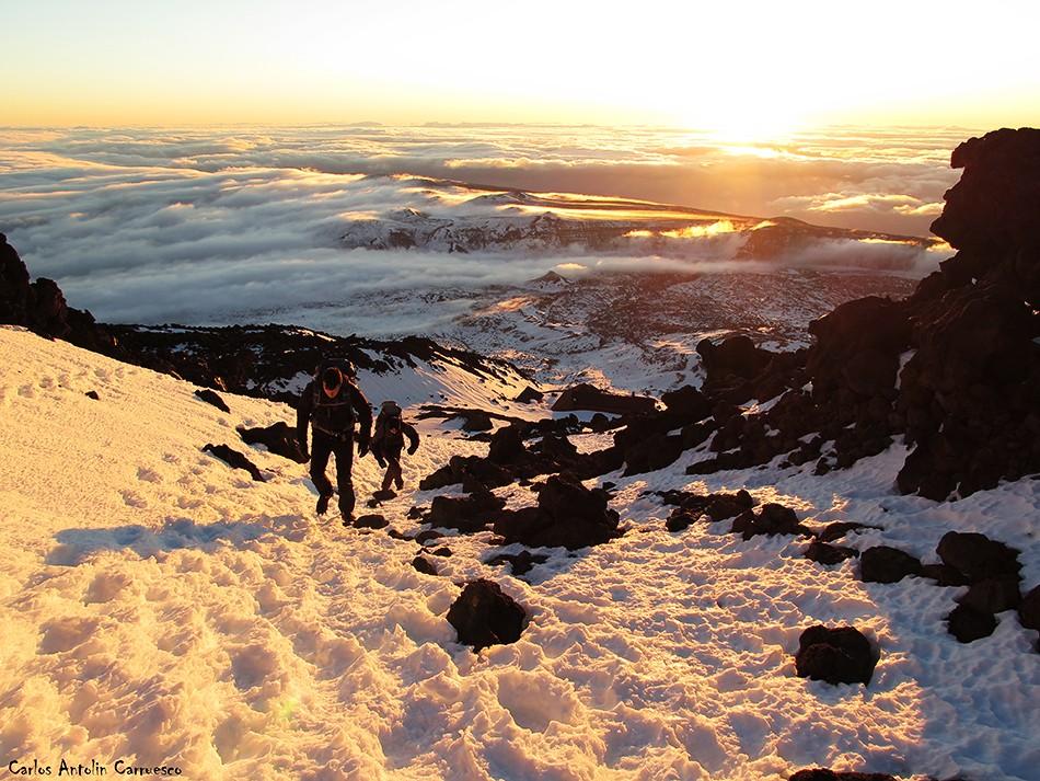 En busca de la cima de España desde Altavista - Teide - Tenerife