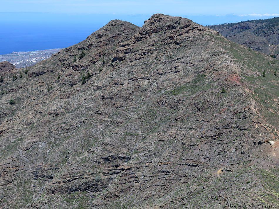 Roque de Los Brezos - Ifonche - Tenerife - Cima del roque de Imoque