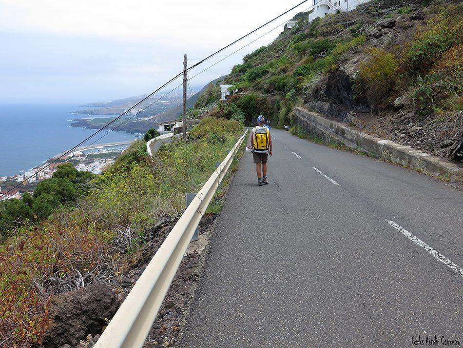 Salto de las Palomas - Tenerife - carretera de El Tanque