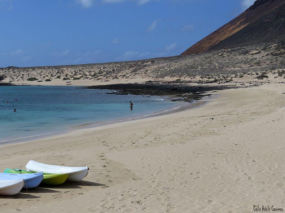 Isla de La Graciosa - Playa Francesa - Lanzarote - Montaña Amarilla