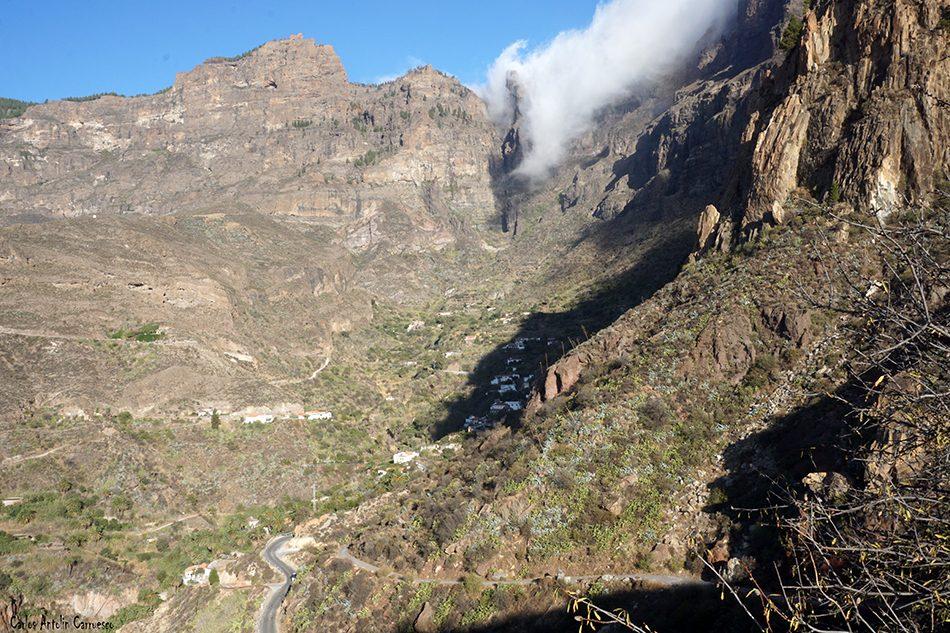Risco Blanco - Riscos de Tirajana - Gran Canaria - la culata