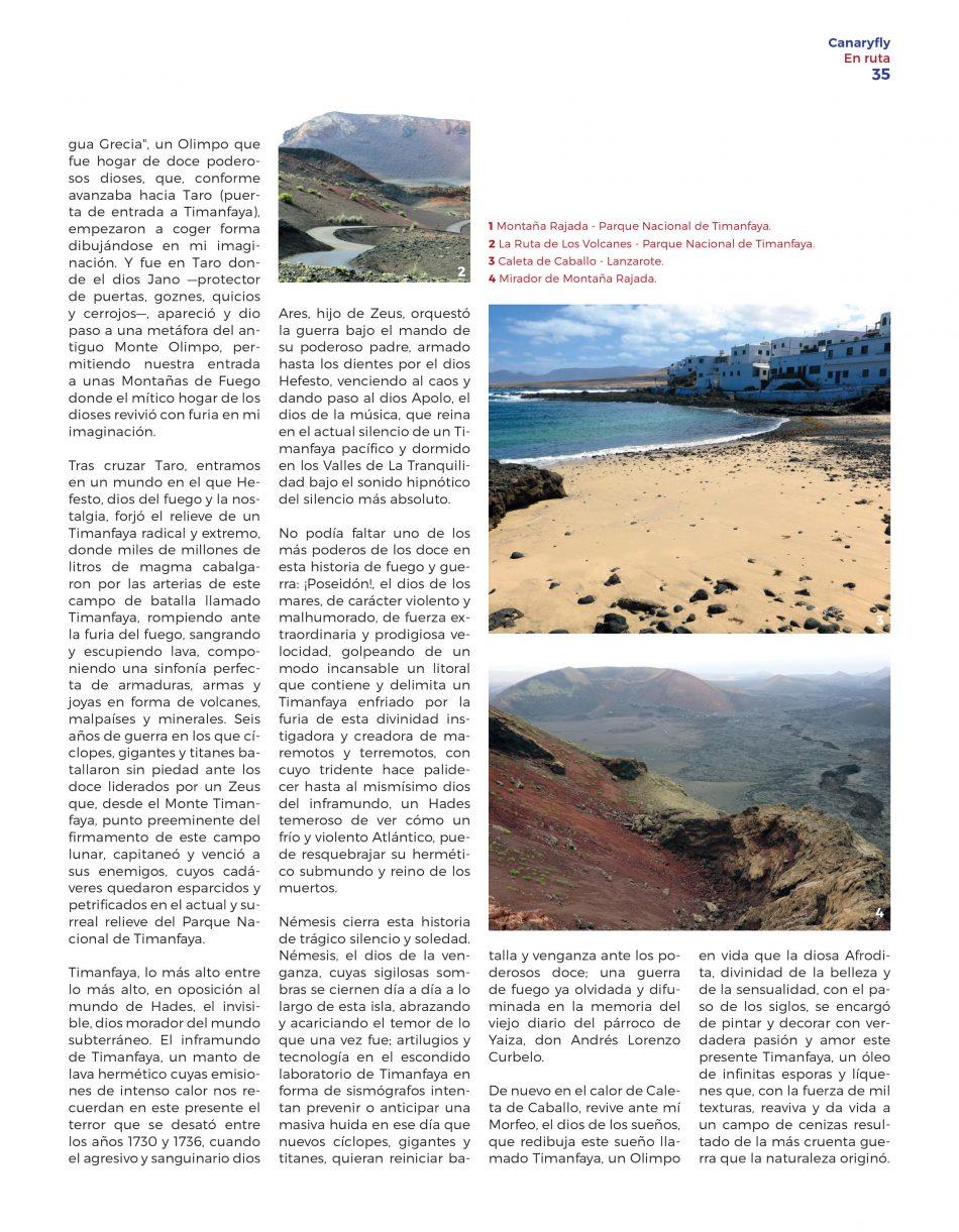 Revista de a bordo Volar y Más - Canaryfly - La Ruta de los Volcanes - Timanfaya