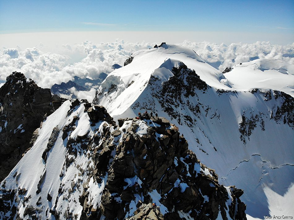 Dufourspitze (4.634 metros de altitud) - Monte Rosa - segunda cima de Europa y primera del macizo Monte Rosa