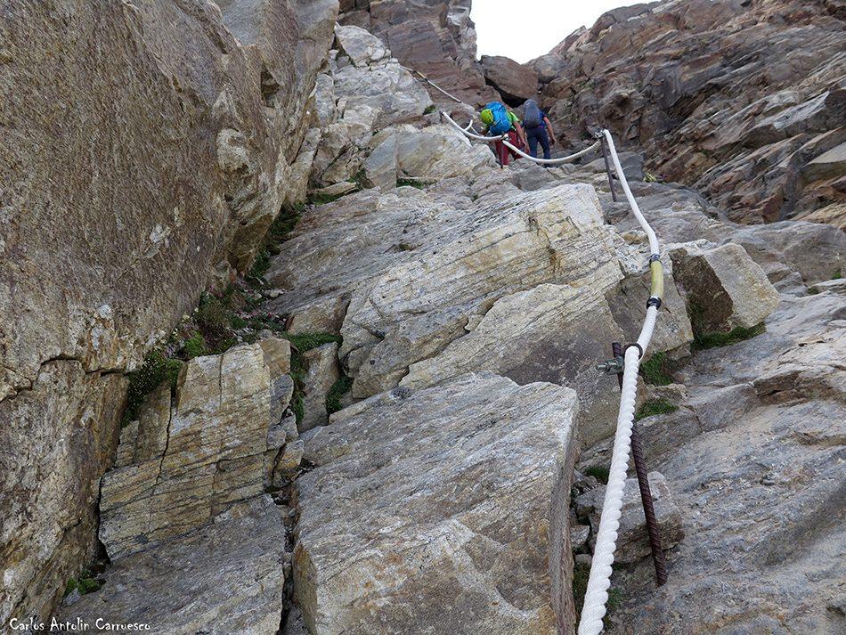 Punta Indren (3.275 metros de altitud) - Refugio Gnifetti - Dufourspitze