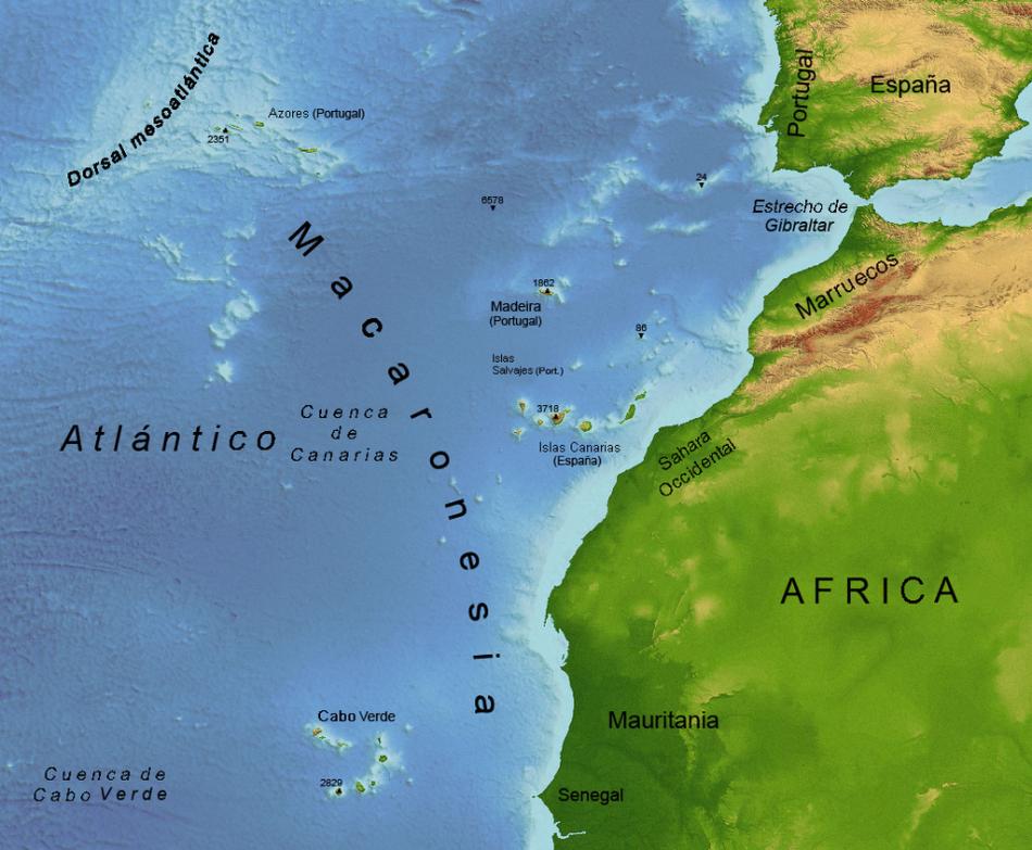 Macaronesia - Atlántico - Archipiélagos