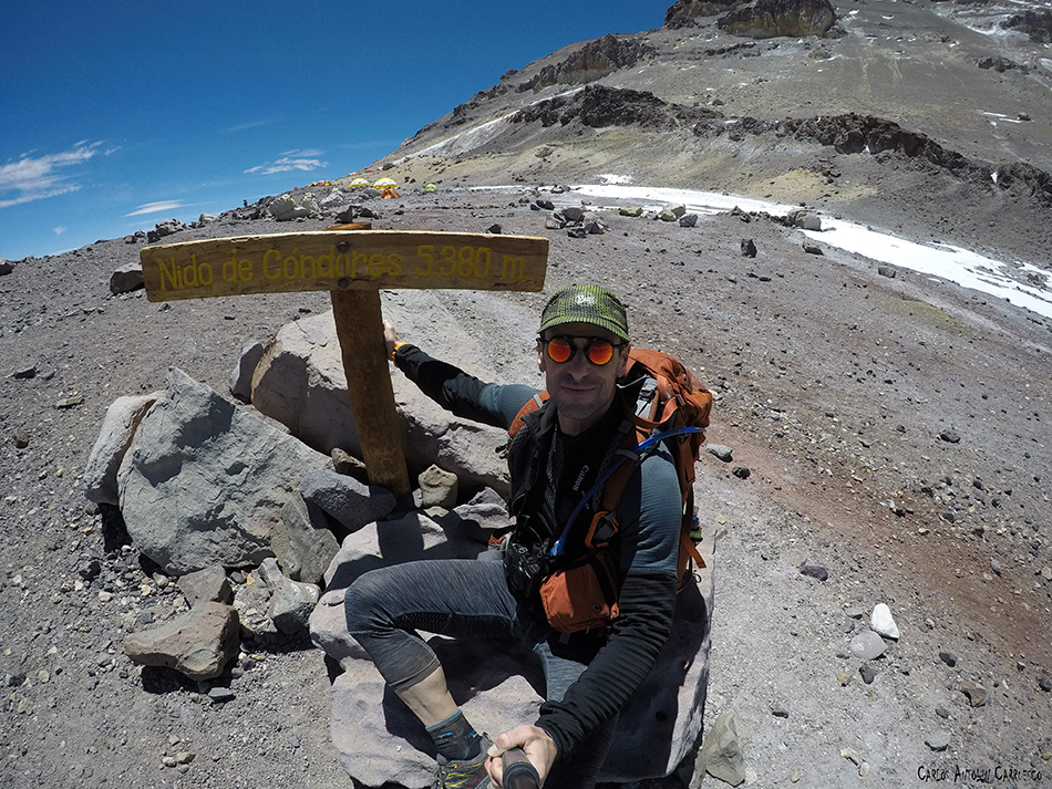 Nido de Cóndores (5.380 metros de altitud) - Aconcagua
