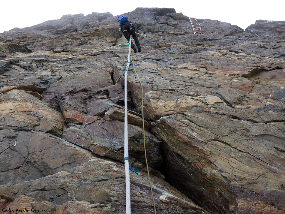 Arista Lion - Cervino - Alpes - escalera jordan